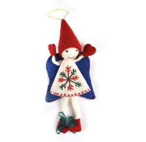 "Fair Trade Fairy / Angel -  22cm / 9"" Hanging Decoration - Random Colours Thumbnail 1"