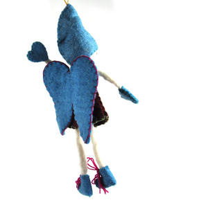 "Fair Trade Fairy / Angel -  22cm / 9"" Hanging Decoration - Random Colours Thumbnail 3"
