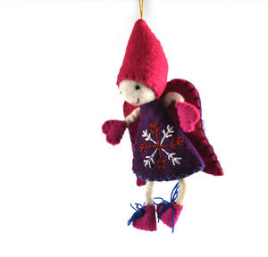 "Fair Trade Fairy / Angel -  22cm / 9"" Hanging Decoration - Random Colours Thumbnail 5"