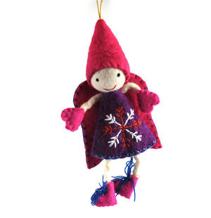 "Fair Trade Fairy / Angel -  22cm / 9"" Hanging Decoration - Random Colours Thumbnail 6"