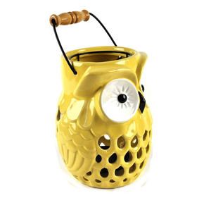 "Owl Candle Lamp - Ceramic Portable Candle Holder 20cm / 8"" Thumbnail 2"