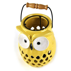 "Owl Candle Lamp - Ceramic Portable Candle Holder 20cm / 8"" Thumbnail 4"