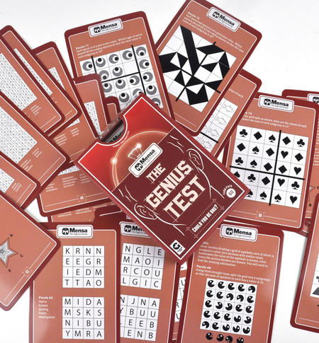 Mensa Genius Test - Large Format Card Set