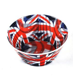 Union Jack Flying Flag - 15cm Melamine Bowl Thumbnail 1