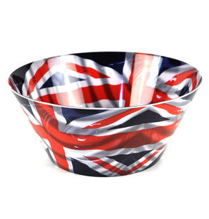 Union Jack Flying Flag - 15cm Melamine Bowl Thumbnail 3