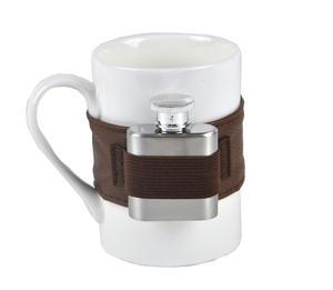 Extra Shot Coffee Mug - Mug with Strap-on Hip Flask Thumbnail 1