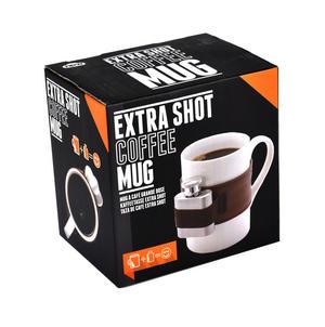 Extra Shot Coffee Mug - Mug with Strap-on Hip Flask Thumbnail 3