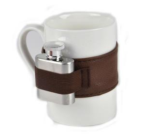 Extra Shot Coffee Mug - Mug with Strap-on Hip Flask Thumbnail 5