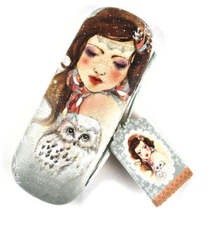 Mademoiselle Snow Owls Glasses Case