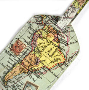 Global Map Luggage Tag Thumbnail 1