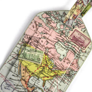 Global Map Luggage Tag Thumbnail 2