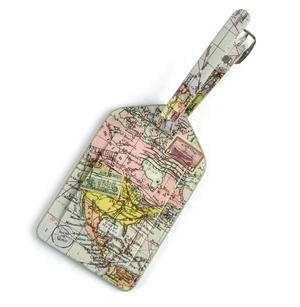 Global Map Luggage Tag Thumbnail 3