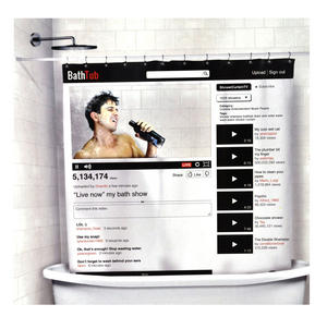 Your Tube Window 'On Line' Shower Curtain Thumbnail 1