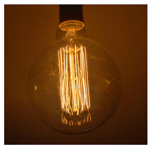 "Vintage Element Light Bulb - ABC 2505 - Round Clear Glass 40 Watts - 12cm / 5"" Thumbnail 2"