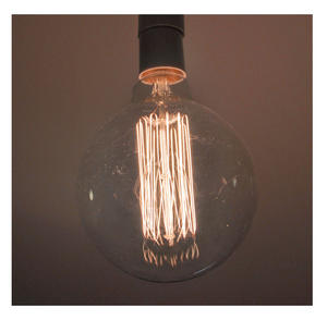 "Vintage Element Light Bulb - ABC 2505 - Round Clear Glass 40 Watts - 12cm / 5"" Thumbnail 4"