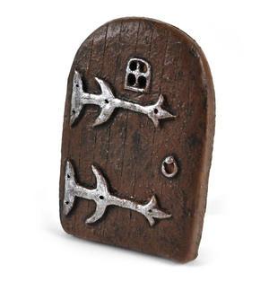 "9cm / 3.5"" Small Rounded Magical Fairy Door  - Fiddlehead Fairy Garden Collection Thumbnail 1"