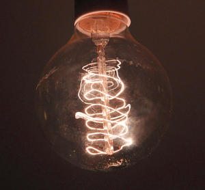 "Vintage Element Light Bulb - ABC 2504 - Round Clear Glass 40 Watts - 6cm  / 2.5"" Thumbnail 1"