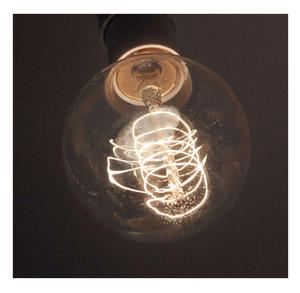"Vintage Element Light Bulb - ABC 2504 - Round Clear Glass 40 Watts - 6cm  / 2.5"" Thumbnail 2"
