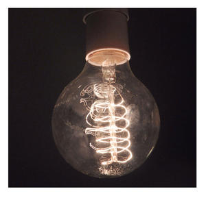 "Vintage Element Light Bulb - ABC 2504 - Round Clear Glass 40 Watts - 6cm  / 2.5"" Thumbnail 3"