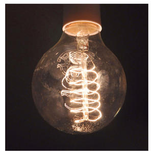 "Vintage Element Light Bulb - ABC 2504 - Round Clear Glass 40 Watts - 6cm  / 2.5"" Thumbnail 4"