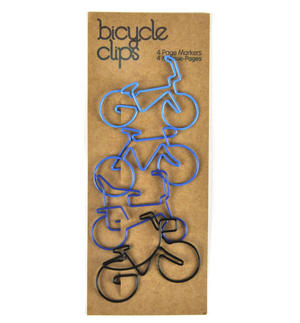 Blue Bicycle Clips - 4 Page Markers Thumbnail 1