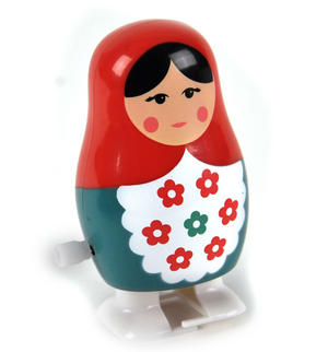 Clockwork  Racing Wind Up Russian Doll Matrioshka Babushka - Random Designs Thumbnail 3