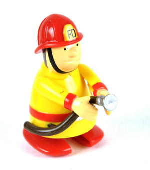 Clockwork  Racing Wind Up Fireman - Random Designs Thumbnail 2