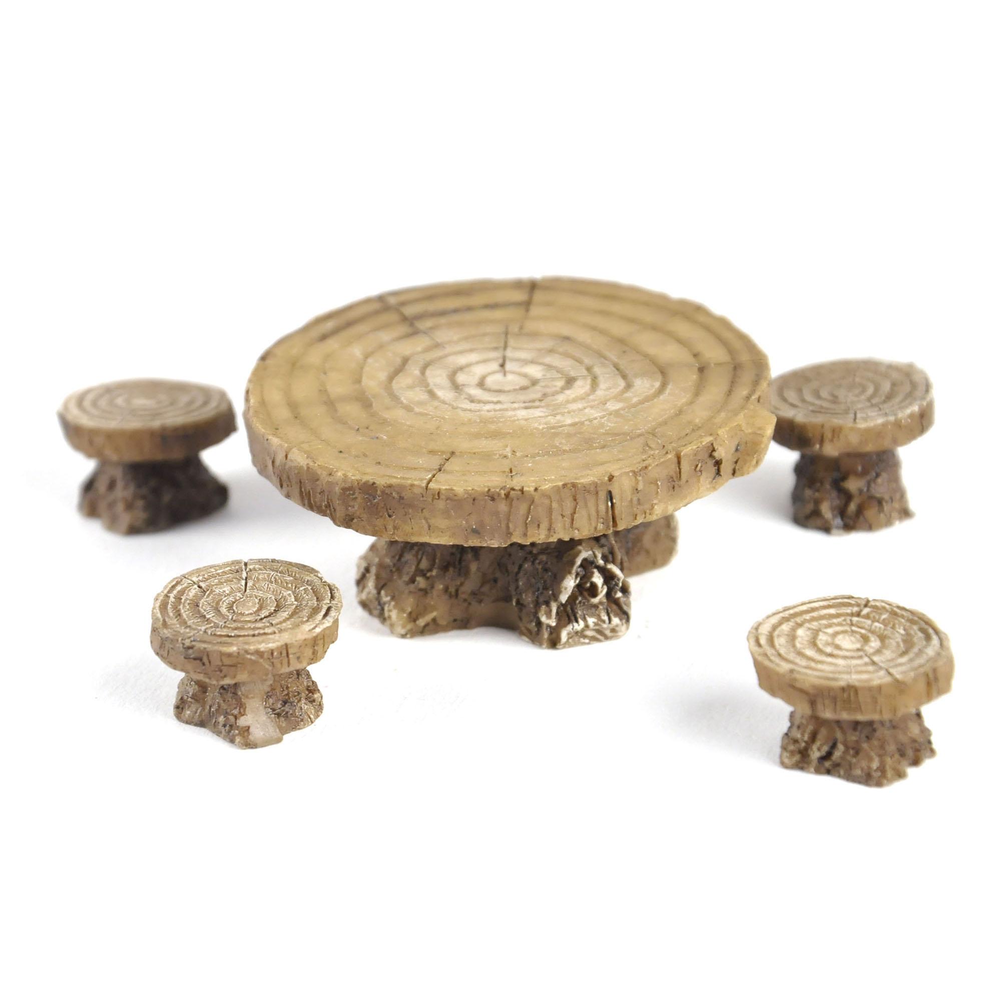 Woodland Table And Stool Set Fiddlehead Fairy Garden