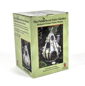 Striped Gourd Fairy Home - Fiddlehead Fairy Garden Collection Thumbnail 5