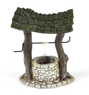 Fairy Village Wishing Well - Fiddlehead Fairy Garden Collection Thumbnail 1