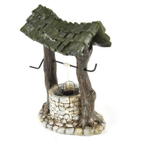 Fairy Village Wishing Well - Fiddlehead Fairy Garden Collection Thumbnail 2