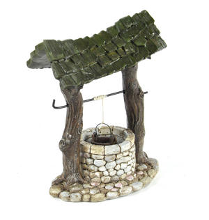 Fairy Village Wishing Well - Fiddlehead Fairy Garden Collection Thumbnail 3