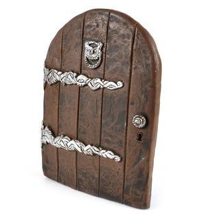 "25cm / 10"" XL Rounded Magical Fairy Door - Fiddlehead Fairy Garden Collection Thumbnail 3"