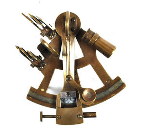 Antiqued Sextant with Wooden Presentation Box Thumbnail 6