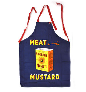 Colman's Mustard Retro Classic  Meat Needs Mustard Apron