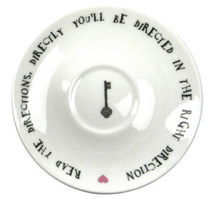 Alice In Wonderland Fine Porcelain Tweedledee and Tweedledum Tea Cup and Saucer - 'If it were, so it might be' Thumbnail 2