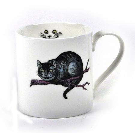 Alice In Wonderland Fine Porcelain Cheshire Cat Mug