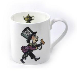 Alice In Wonderland Fine Porcelain Mad Hatter Mug- 'Mustard? Don't Let's Be Silly' Thumbnail 2