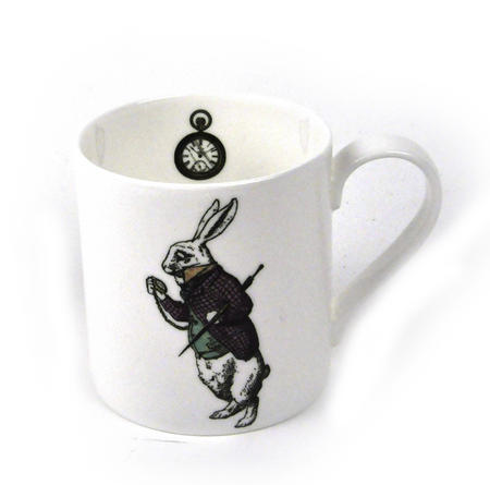 Alice In Wonderland Fine Porcelain White Rabbit Mug - 'Oh My Ears and Whiskers'
