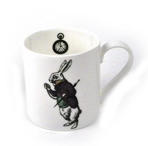 Alice In Wonderland Fine Porcelain White Rabbit Mug - 'Oh My Ears and Whiskers' Thumbnail 1