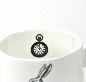 Alice In Wonderland Fine Porcelain White Rabbit Mug - 'Oh My Ears and Whiskers' Thumbnail 3