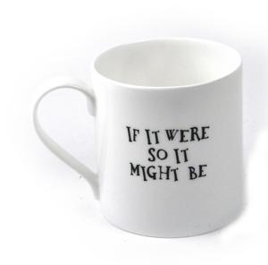 Alice In Wonderland Fine Porcelain Tweedledee and Tweedledum Mug - 'If it were, so it might be' Thumbnail 2