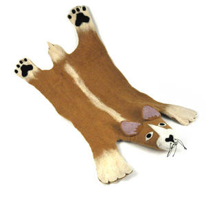 Prince the Corgi Dog Super Felt Rug Thumbnail 1