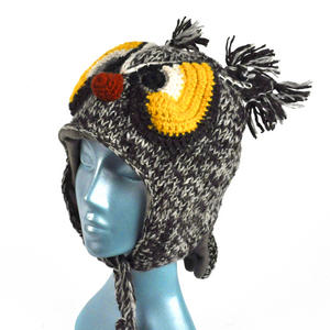 Owl Winter Woolly Hat