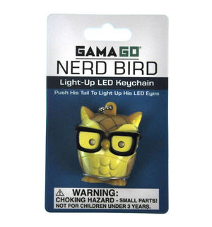 Nerd Bird LED Owl Keyring