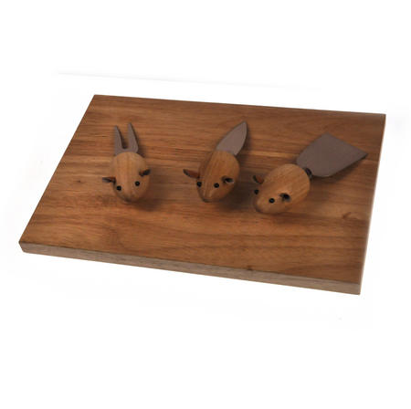 3 Blind Mice Cheese Board Set
