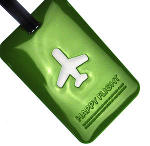 Happy Flight Green Luggage Identifier