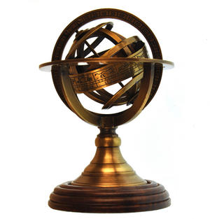 Armillary Sphere Astrology Globe - Scaled Replica Antique Scientific Instrument / Paperweight Thumbnail 1