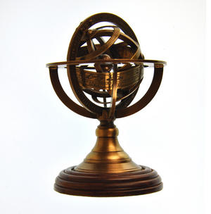 Armillary Sphere Astrology Globe - Scaled Replica Antique Scientific Instrument / Paperweight Thumbnail 2