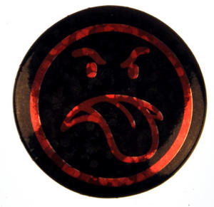 Un-Smiley Badge
